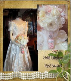 Sweet Carolina Vintage Rose Bouquet   Reserved by whiteriver51, $345.00