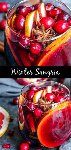 This easy recipe for Winter Red Wine Sangria is made with red wine, warm spices . This easy recipe for Winter Red Wine Sangria is made with red wine, warm spices like cinnamon, clov Winter Sangria, Winter Cocktails, Red Wine Sangria, Christmas Sangria, Holiday Cocktails, Red Wine Cocktails, Sparkling Wine Cocktail Recipes, Sangria Alcohol, Thanksgiving Sangria