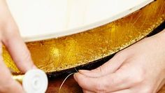 Golddraht befestigen