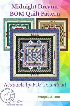 Create this perfectly pieced heirloom in just 12 steps! This Block of the Month style quilt pattern e-book is designed to help you perfect your piecing skills. The blocks start out simple and get progressively more complicated as you build on the skills learned in the previous block. If you are just learning to piece quilts, or want a reference book that will help you perfect your skills, this is the e-book for you! #scrapdash Quilting 101, Quilting For Beginners, Quilting Tutorials, Quilt Top, Block Quilt, King Size Quilt, Foundation Paper Piecing, Block Of The Month, Moon Design
