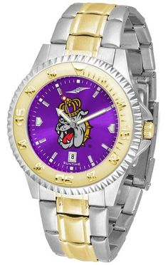 James Madison Dukes Competitor Two-Tone AnoChrome Watch