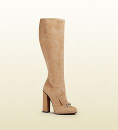 Gucci | suede horsebit knee boot