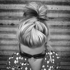 braided messy bun...