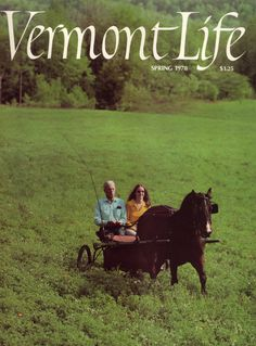 Spring 1978 - VT Life cover from the year I was born (heart happy there's a horse there...)