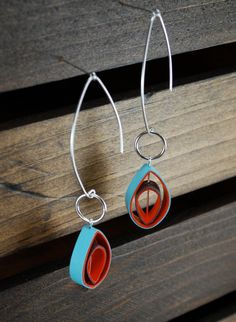 Modern Paper Earrings by RogueTheoryPULP