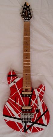Peavey EVH Wolfgang striped guitar