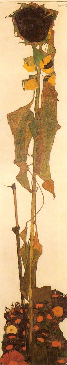 Sunflower by Egon Schiele, 1909-10. Oil on canvas...K