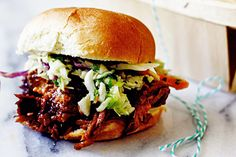 Slow-Cooker Cherry Chipotle Pulled Pork with Cilantro Lime Slaw | 20 Cherry Recipes
