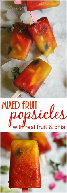 Mixed fruit popsicles made with organic fruit juice and fresh fruits is the healthy way to do ice-cream this summer. Homemade popsicles that get ready in no time at all and with barely any effort, …