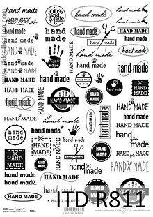 Papier - ryžový papier nápisy Hand made - 6023104_