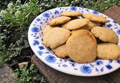 Almond Cornmeal Mustard Cookies