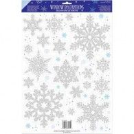 Prismatic Snowflake Window Decoration [Party Themes - Party Supply] - In Stock Party Stores, Party Shop, Christmas Scene Setters, Open A Party, Winter Wonderland Decorations, Mickey's Very Merry Christmas, Green Christmas, Halloween Supplies, Wholesale Party Supplies