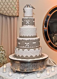 Lace wedding cake | by Design Cakes