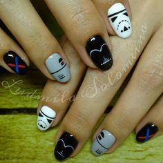 "Kanga Care Rumparooz Kelly's Closet Super Fan Challenge - Team ""RUMP ONE"" - #KangaTroopers #MayTheRzzClothDiaperYou #RumpOne - Star Wars Nails"