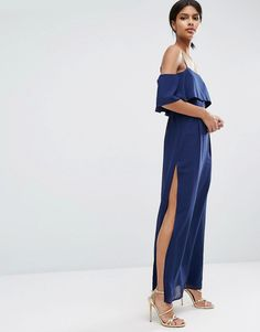 ASOS+Cold+Shoulder+Maxi+Dress