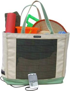 A solar-powered bag to charge your gadgets will definitely come in handy no matter where you are under the sun