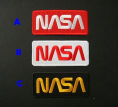NASA Logo DIY Applique Iron on Patch by DIYMINT on Etsy