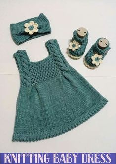 knitting for babies Knit Baby Dress, Knitted Baby Clothes, Baby Knits, Baby Cardigan Knitting Pattern, Baby Knitting Patterns, Knitting Baby Girl, Baby Outfits, Kids Outfits, Baby Dress Patterns