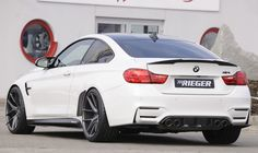 BMW M4 with Rieger Rear Diffuser Gloss Black SKU-88129