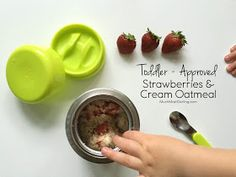 Much.Most.Darling.: Toddler Approved Strawberries & Cream Oatmeal Recipe