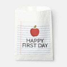 Happy First Day Back to School Apple Teacher Favor Bag first day of school ideas, school ids, printables school #backtoschooltomorrow #backtoschoolcikarang #backtoschoolcolor, dried orange slices, yule decorations, scandinavian christmas Back To School For Teens, School Id, First Day Of School, School Days, Favor Bags, Treat Bags, School Treats, Schools First, Yule Decorations