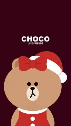 Choco Brown Line, Cartoon Wallpaper, Iphone Wallpaper, Kakao Friends, Friends Wallpaper, Line Friends, Line Sticker, Cute Illustration, Phone Backgrounds