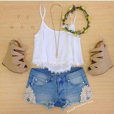 Amazing Cute Summer Outfits Ideas For Teenage Girl Teenage Girl Outfits, Teenager Outfits, Outfits For Teens, Casual Outfits, School Outfits, Casual Dresses, Cute Fashion, Look Fashion, Teen Fashion
