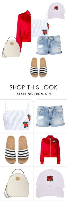 """""""Roses Are Red"""" by sandrafinn ❤ liked on Polyvore featuring Armani Jeans, adidas, Carven, Gucci and Armitage Avenue"""