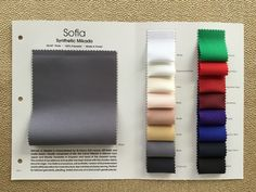 Millennium Swatch Card Inc Color Swatches, Fabric Swatches, Presentation Techniques, Folder Design, Textiles, Signage Design, Fabric Manipulation, Book Binding, Fabric Samples