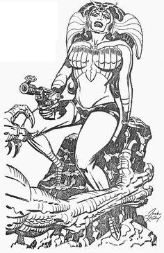 Jack Kirby screenshots, images and pictures - Comic Vine Comic Book Pages, Comic Book Artists, Comic Artist, Comic Books Art, Frank Miller Comics, Big Barda, Jack Kirby Art, Fourth World, Futuristic Art