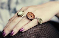 Knopf-Ring #schmuck