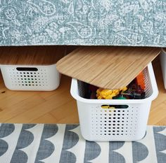 imageWhite SmartStore Baskets with bamboo lids