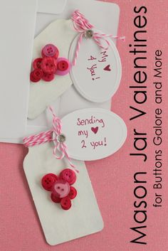 Fun Mason Jar Valentines from @Angie Countrychiccottage