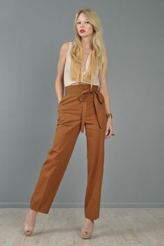 1970s fashion YSL pants. Am I crazy for loving these??