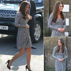 Kate Middleton Officially Shows Off Her Baby Bump In London