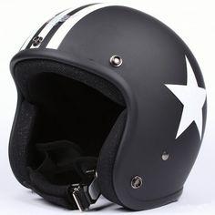 Black/white Flat Matte Goggles Motorcycle Helmet with Goggles Retro Vintage Evo Helmet Sports Street Bike Cruiser Scooter Snowmobile Helmet with Pilot Goggles