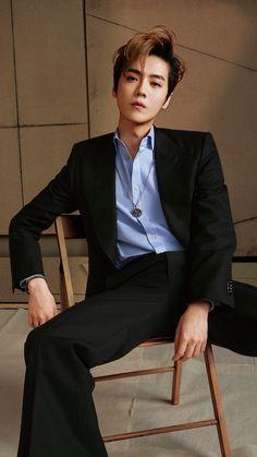 Luhan X madame figaro Park Chanyeol, Luhan, Tao, Danson Tang, Chanbaek Fanart, Most Handsome Actors, Big Bang Top, Gu Family Books, Kim Minseok
