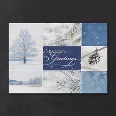 Winter Collage - Holiday Card  http://mediaplus.carlsoncraft.com/Holiday/Shop-All-Holiday-Cards/YM-YMM0869-Winter-Collage--Holiday-Card.pro
