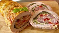 Pieczeń świąteczna Pork Recipes, Cooking Recipes, Homemade Sandwich, Kebab, Vegetable Casserole, Good Food, Yummy Food, Xmas Food, Polish Recipes