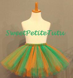 Orange and Green tutu Girl's Tutu Preemie by SweetPetiteTutu