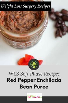 Red Pepper Enchilada Bean Puree - Bariatric Pureed Diet - The Best Protein Recipes Pureed Food Recipes, Easy Healthy Recipes, Diet Recipes, Cooking Recipes, Best Protein, Protein Foods, Protein Recipes, Vsg Diet, Bariatric Recipes