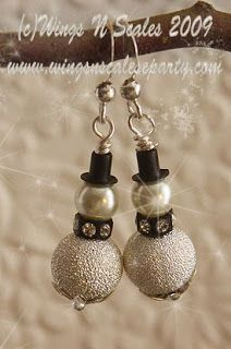 Wings N Scales: Snowmen Earrings