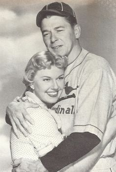 Doris with Ronald Reagan (before he became president)