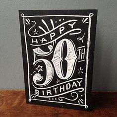 50th chalkboard birthday
