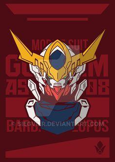 Gundam Barbatos Lupus by SiegVier on DeviantArt Gundam Head, Gundam Wing, Gundam Art, Power Rangers, Barbatos Lupus, Blood Orphans, Gundam Iron Blooded Orphans, Gundam Wallpapers, Robot Girl