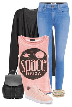 """""""space"""" by divacrafts ❤ liked on Polyvore featuring Paige Denim, New Look, adidas, rag & bone, Kendra Scott and Original"""