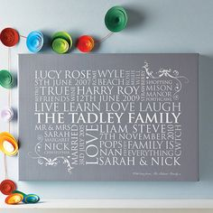 personalised family word art print by cherry pete | notonthehighstreet.com