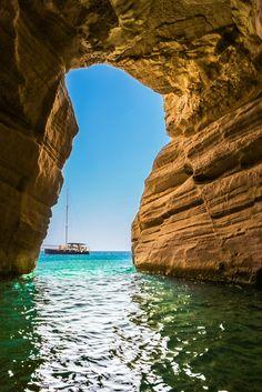 Cave Lagoon, Milos, Greece