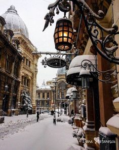 Snow day in Bucharest, in southern Romania Photography by: Dana Stefanescu