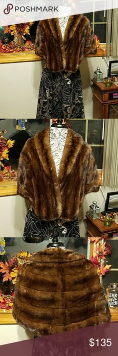 Authentic Vintage Mink shawl Additional pics for listing. SEE OTHER LISTING Jackets & Coats Capes